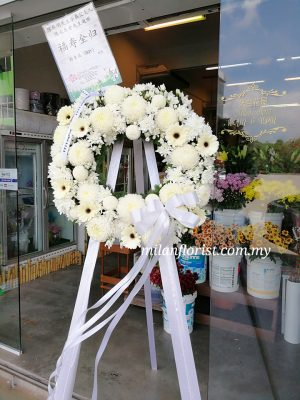 funeral condolences wreath 往生花圈